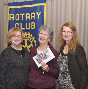Margaret Jean, Irene Good and Beverly at the Ladner Rotary Luncheon.